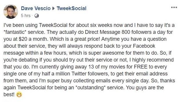 Tweeksocial twitter mass dm
