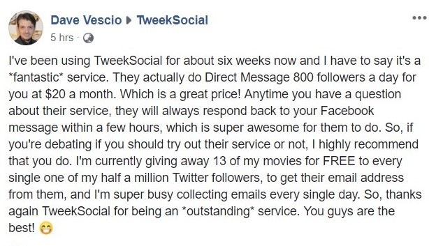 Tweeksocial twitter mass dm